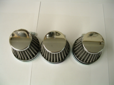Seperate  air filters to fit 3 cylinder models (Keihin carburettors)