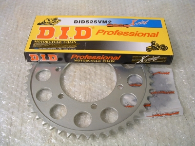 DID X-ring 525 chain and sprocket kit. Bonneville range/600/650/675