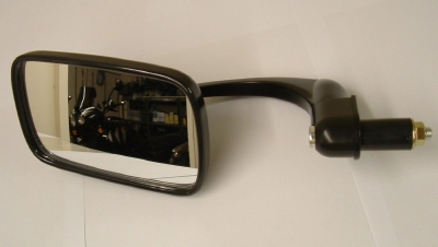 Bar end mirror, classic style black