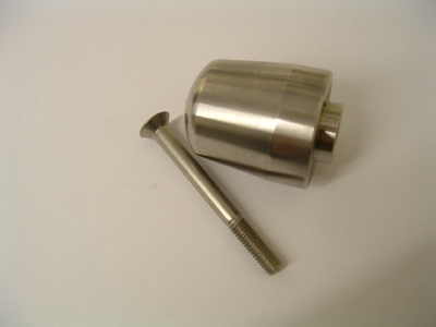 Handlebar end weight stainless steel. Trident, Trophy, Sprint 900