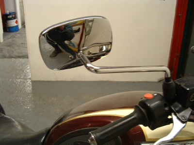 Thunderbird 900 rectangular mirror right.
