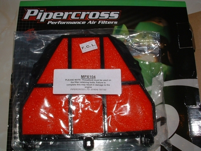 Air filter Pipercross for Daytona 675 and Street Triple.