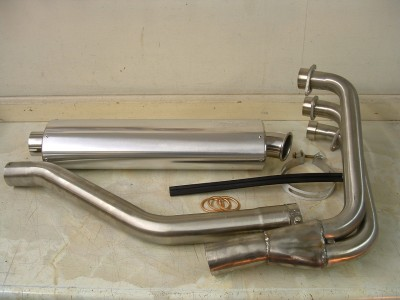 3:1 stainless steel exhaust system