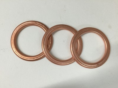 Exhaust port/header pipe copper gasket rings (round port, priced each)