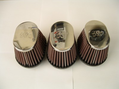 Seperate K & N air filters to fit 3 cylinder models (Keihin carburettors)