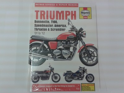 Haynes Repair Manual,  Bonneville, T100, Speedmaster, America and Thruxton