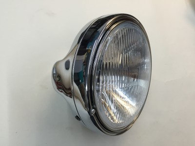 EL010 Complete chrome headlight Thunderbird, Trident