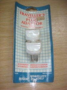 Two Pin Adapter UK to Euro Toiletries