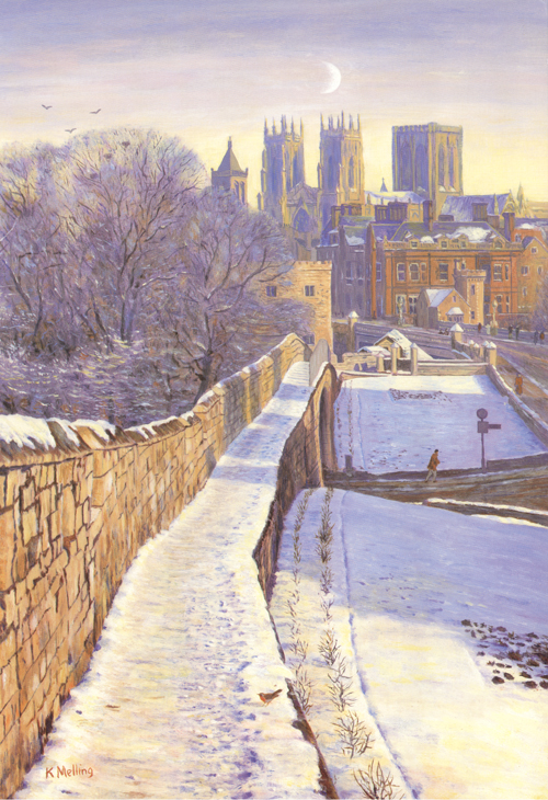 Towards York Minster. Painting : Keith Melling