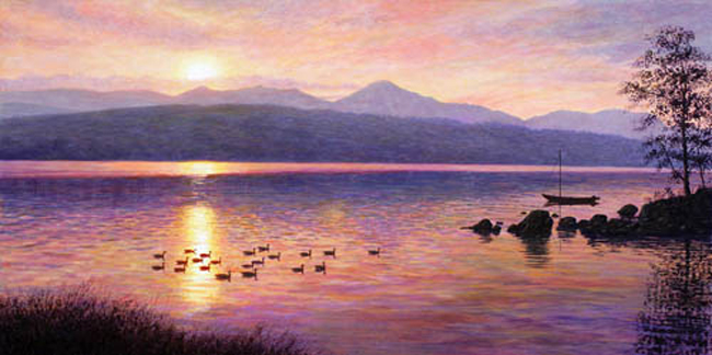 Sunset Over Coniston Water - Lake District. Keith Melling