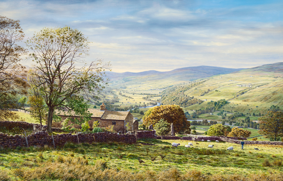Swaledale - Yorkshire Dales. Painting Keith Melling