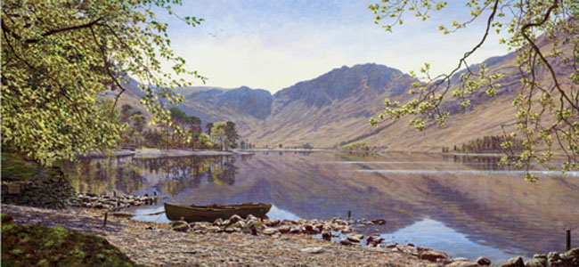 Buttermere from Dalegarth, Lake District. Artist Keith Melling
