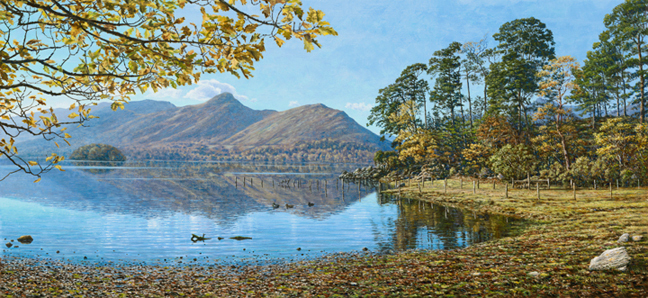 Across Derwentwater to Catbells, Lake District. Artist Keith Melling