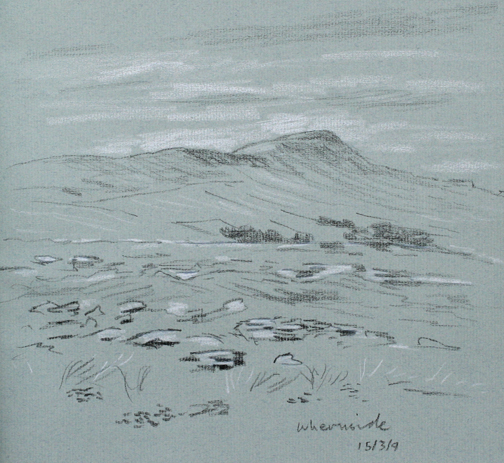 Whernside. Yorkshire Dales. Sketch by Keith Melling