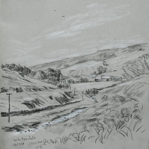 Whitendale, Lancashire. Sketch: Keith Melling