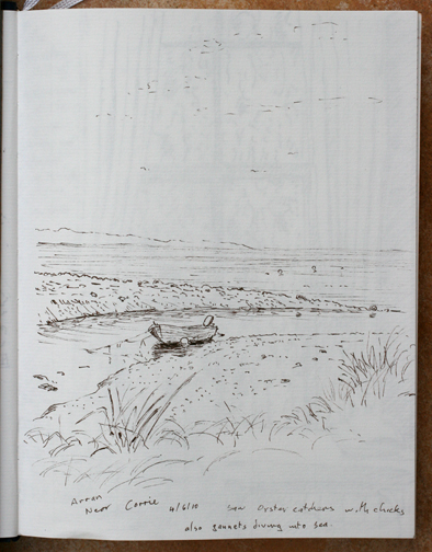 Near Corrie on the Isle of Arran. Sketch - Keith Melling