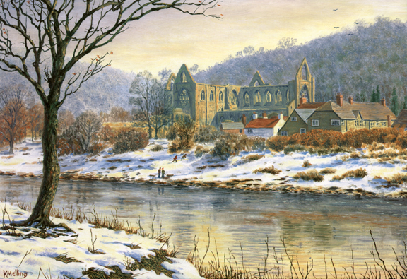 Tintern Abbey - Wye Valley, Wales. painting by Keith Melling