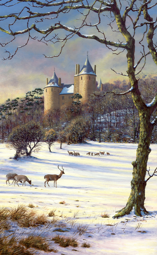 Castell Coch, Cardiff, Wales. Painting by Keith Melling