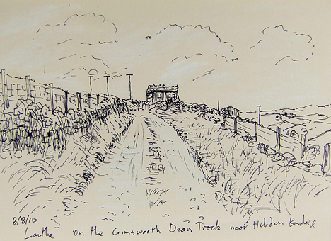 The Crimsworth Dean track - sketch. Keith Melling