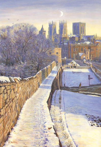 Towards York Minster  -  Yorkshire. Painting by Keith Melling
