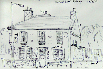 Admiral Lord Rodney, Colne, Lancashire. Sketch - keith Melling