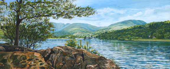Lake Windermere - Lake District. Painting by Sam P Melling