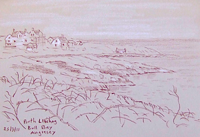 Porth Llechog, Bull Bay, Anglesey, Wales. Sketch: Keith Melling