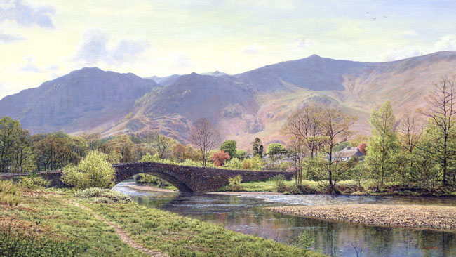 River Derwent, Grange in Borrowdale, Lake District. Artist Keith Melling