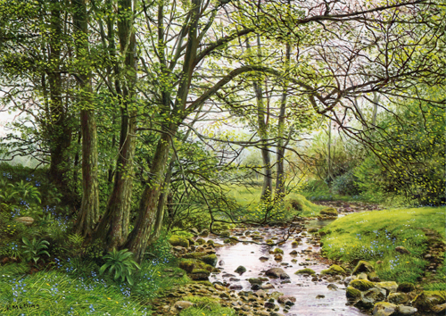 Admergill Water, Lancashire, Painting by Keith Melling