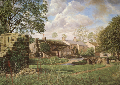 Wycoller, Colne, Lancashire. Painting : Keith Melling