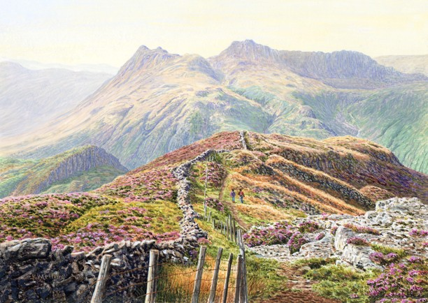 Langdale Pikes from Lingmoor - Lake District. Keith Melling