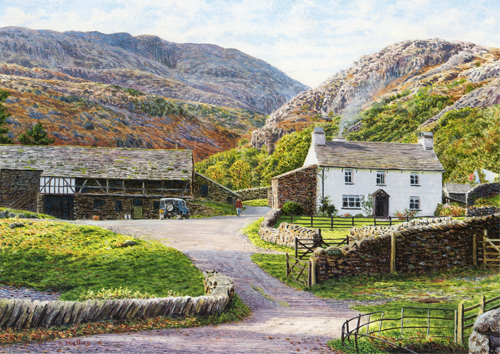 Yew Tree Farm, Yewdale, Lake District. Painting by Keith Melling