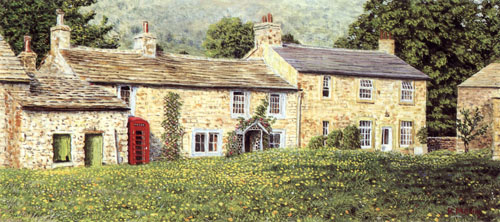 Arncliffe Cottages, Yorkshire Dales. Artist : Keith Melling