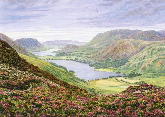 Buttermere Valley from Haystacks - Lake District. Keith Melling