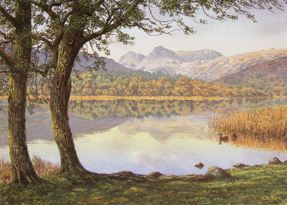 Elter Water - Lake District. Painting by Keith Melling