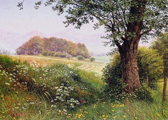 Lakeland Fields. Painting by Keith Melling