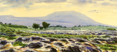 Ingleborough, Yorkshire Dales. Painting : Keith Melling