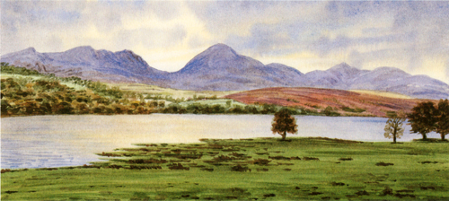 Early Evening, Coniston Water, Lake District. Painting Keith Melling