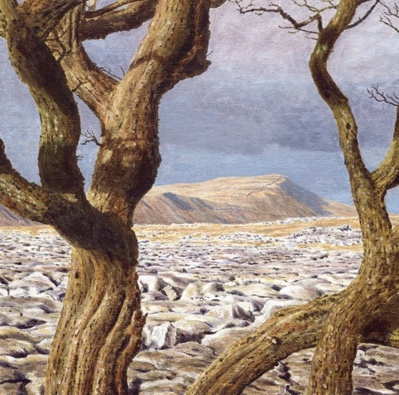 White Scars and Whernside, Yorkshire Dales. Painting: Keith Melling