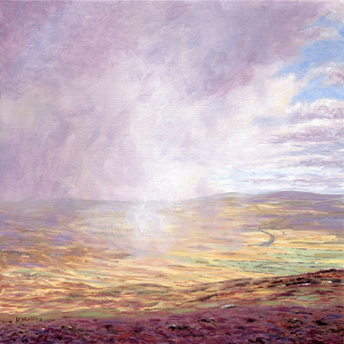 Rain over Ribblehead, Yorkshire Dales. Painting : Keith Melling