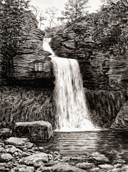 Thornton Force, Ingleton. Artist Keith Melling