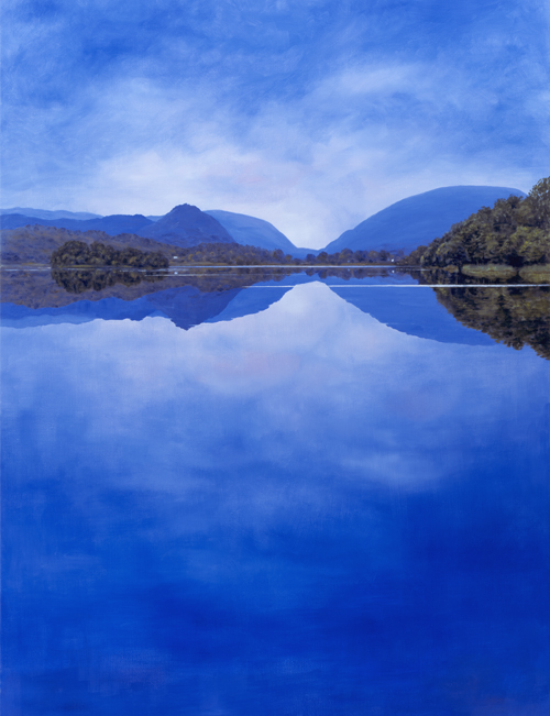 Calm Evening Grasmere, Lake District. Painting Keith Melling