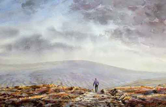 Back o ' Pendle. Watercolour _ Keith Melling