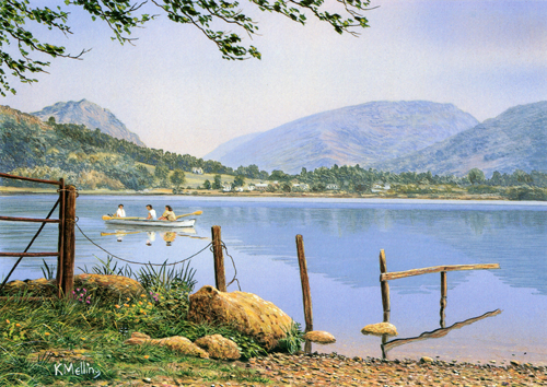 Grasmere, Lake district. Painting Keith Melling