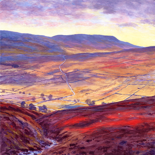 Fountains Fell from Horse Head. Painting by Keith Melling