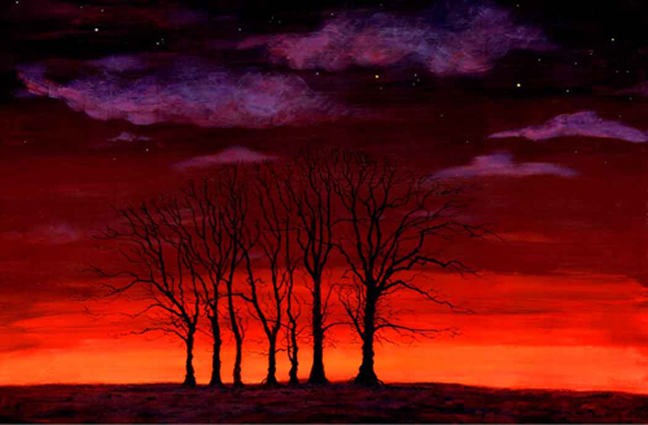 Seven Trees. Painting - Keith Melling