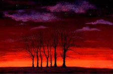 Seven Trees. Painting: Keith Melling