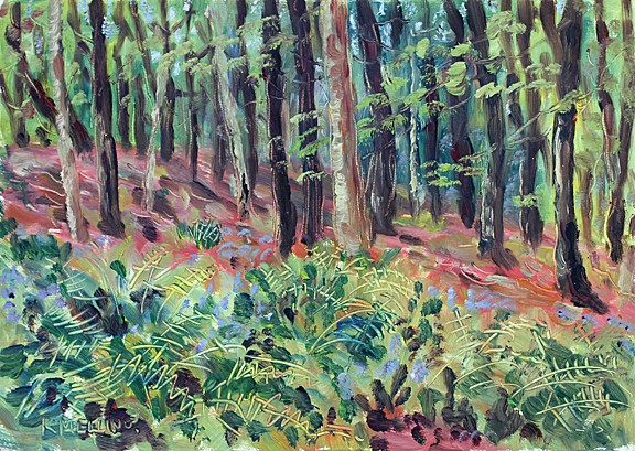 In Boothman Wood V, Barley, Lancashire. Painting: Keith Melling