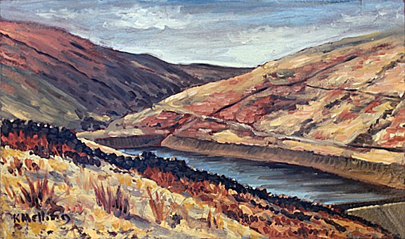 Upper Ogden Res. Barley, Lancashire. Painting: Keith Melling
