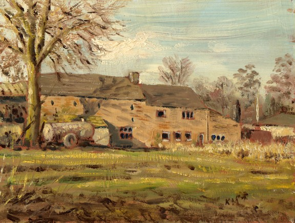 Dam Head Farm, Roughlee, Lancashire. Painting: Keith Melling